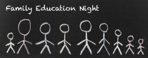 Drop-in Family Education Night logo