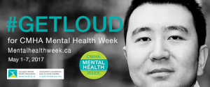 Get Loud Logo for CMHA Mental Health week May 1-7th 2017