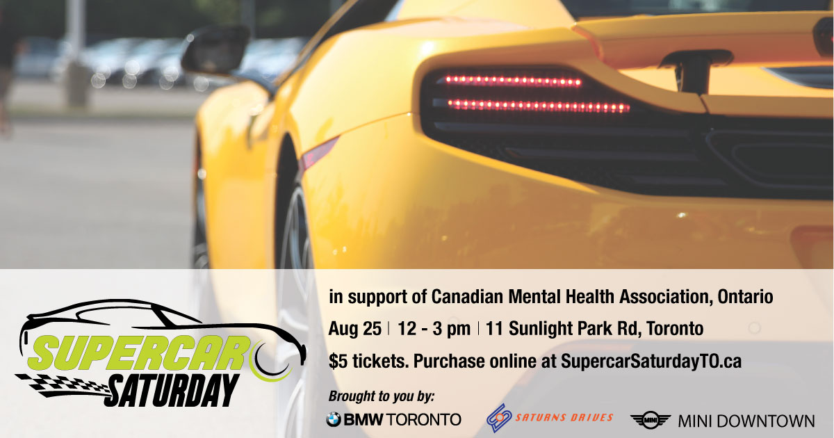 Supercar Saturday Returns In Support Of Mental Health